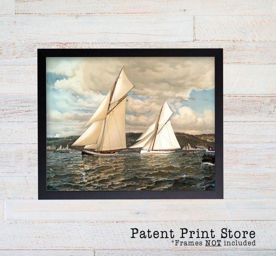 Sailboat Print. Sailboat Art. Sailboat Decor. Nautical Decor.