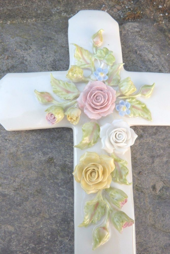 EXQUISITE PIECE BY BRIAN O SULLIVAN IRELAND IRISH ROSE WALL CROSS  L/G