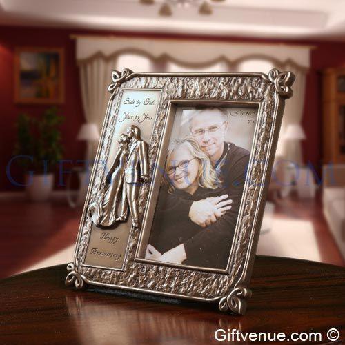 Genesis Fine Arts Bronze Anniversary Frame - gifts for wedding anniversary