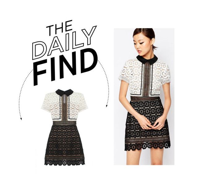 """""""The Daily Find: Self Portrait Lace Dress"""" by polyvore-editorial ❤ liked on Polyvore featuring self-portrait, women's clothing, women's fashion, women, female, woman, misses, juniors and DailyFind"""