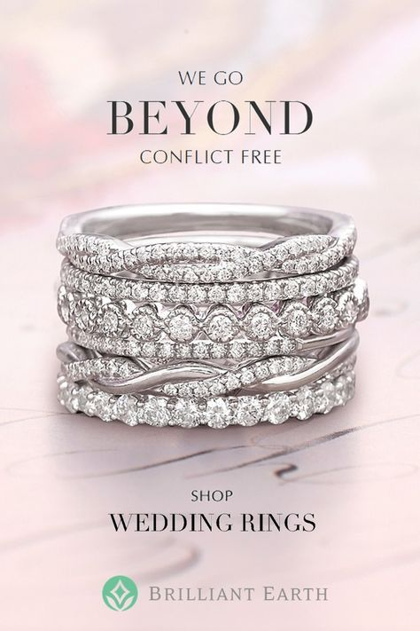 A brilliant beginning. Discover dazzling gold and platinum diamond wedding rings from the purest sources.