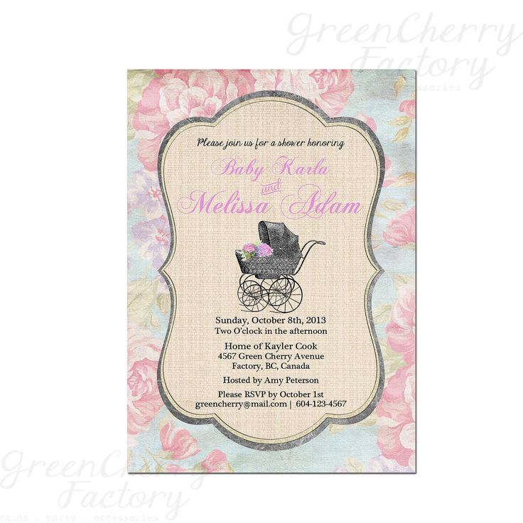 best baby shower invitations images on   cards, kids, Baby shower invitation