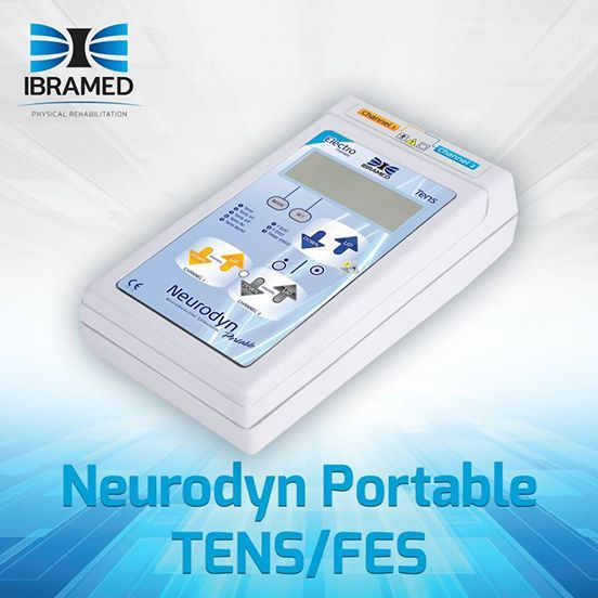Introducing our Neurodyn Portable Tens/Fes.  This portable equipment is designed for TENS & FES therapy. It has two channels with independent intensity controls, and can be operated with a 9 volt battery or connected to main power outlets.  Ideal for muscle strengthening, tonification and reduction of edemas.  www.ibramed.us for mor info  #ibramedusa #ptmonth #physicaltherapy #PT #physicalTherapyProducts