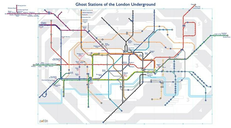 Ghost stations of the London Underground. One of my favourite things to do in London.