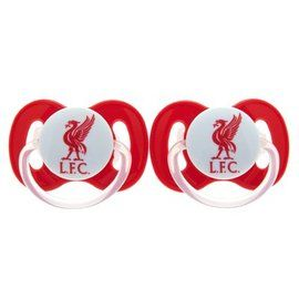 Liverpool Dummies, are just right for soothing babies when they are upset and they can look good too whilst supporting their football team!! just one of many baby souvenirs available at Soccer box, http://www.soccerbox.com/liverpool-football-shirts/baby-clothes/