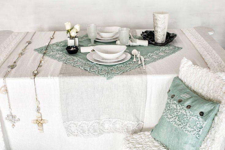 #danieladallavalle #artepura #fw15 #collection #white #green #table #chair #pillow