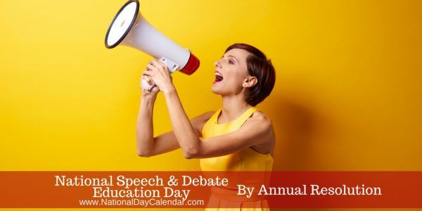 NATIONAL SPEECH AND DEBATE EDUCATION DAY On March 3, employers, schools and students across the country recognize the value of competitive public speaking on National Speech and Debate Education Da…