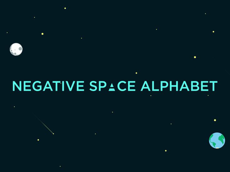 Negative Space Alphabet