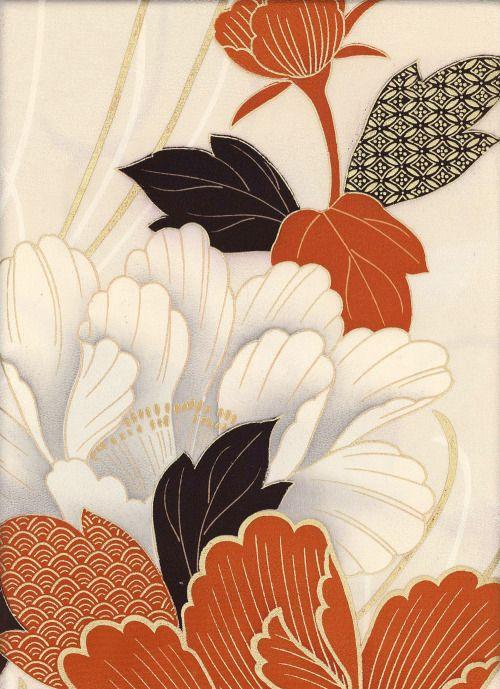 """yorkeantiquetextiles: """" Detail of vintage Kimono Panel. 1950-1970, Japan. Yorke…"""