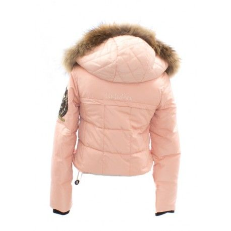 bomber nickelson rosa nude pelo cuello by canalla