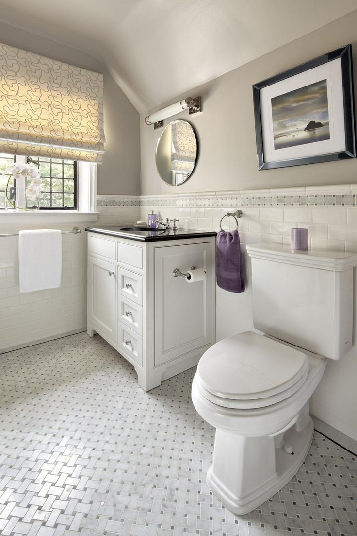 basket weave tile for classic bathroom design cool bathroom ideas