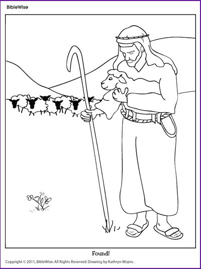 Coloring Parable of the Lost Sheep Kids Korner