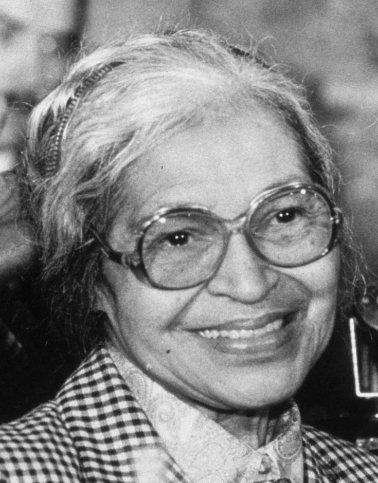 On December 1, 1955, Rosa Parks refused to get up from a seat on a bus to move back.
