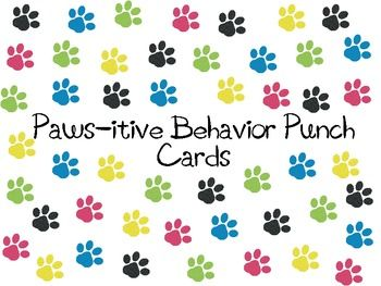{FREE} Paws-itive Behavior Punch Cards- For BLE Bobcats#Repin By:Pinterest++ for iPad#