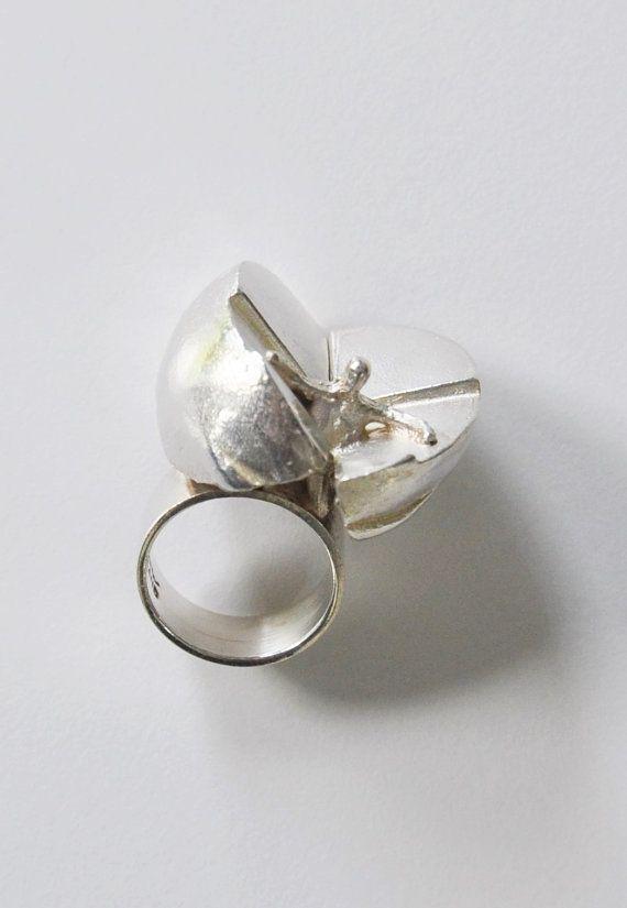 IKAROS Lapponia Modernist Sterling Silver Ring Bjorn Weckstrom  Finland 1971 Scandinavian Jewelry