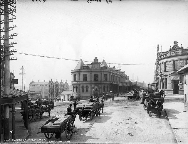 Sussex Street at Market Street, Sydney