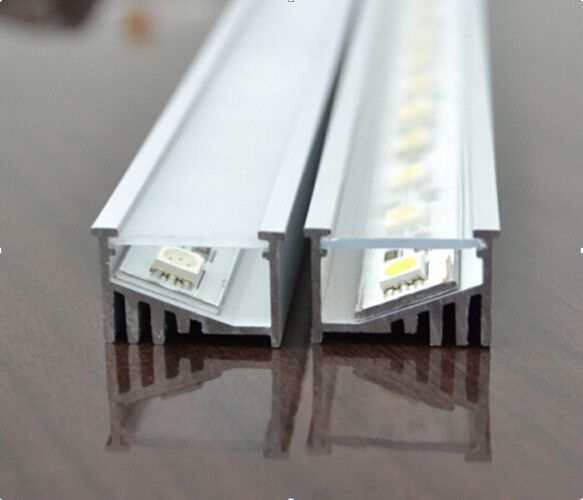 1000mm x 21mm x 12.5mm angled super wide LED strip recessed LED aluminum extrusion profile