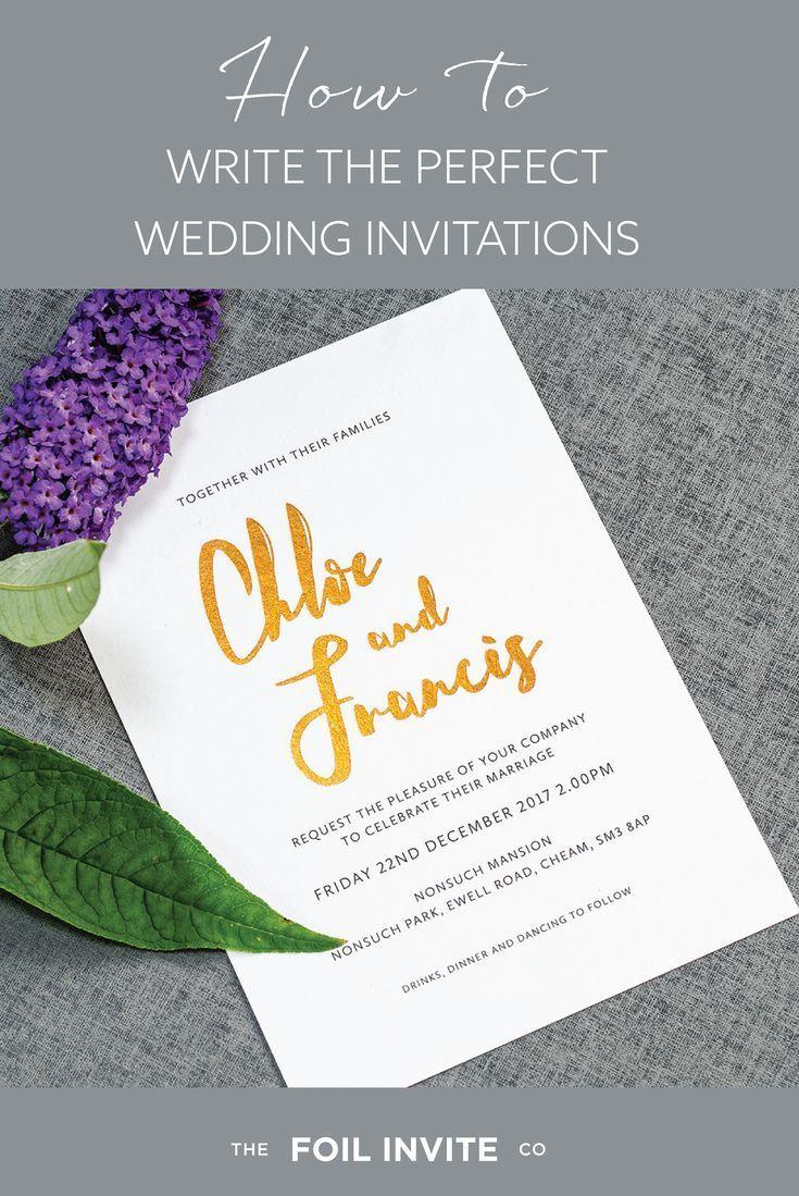 Create Wedding Invitations.Wedding Invitation Wording How To Get It Right Foil Invite