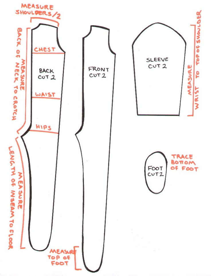 Adult Footie Pajamas Pattern 81