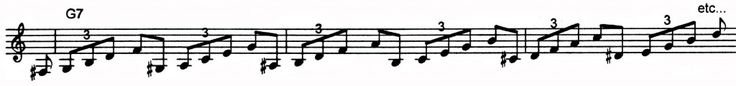 A bebop exercise that will help develop your use of arpeggios. | Jazz Trumpet Licks