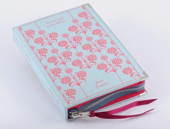 Blue Jane Austen Sense and Sensilbility Book Clutch by psBesitos, €60.00