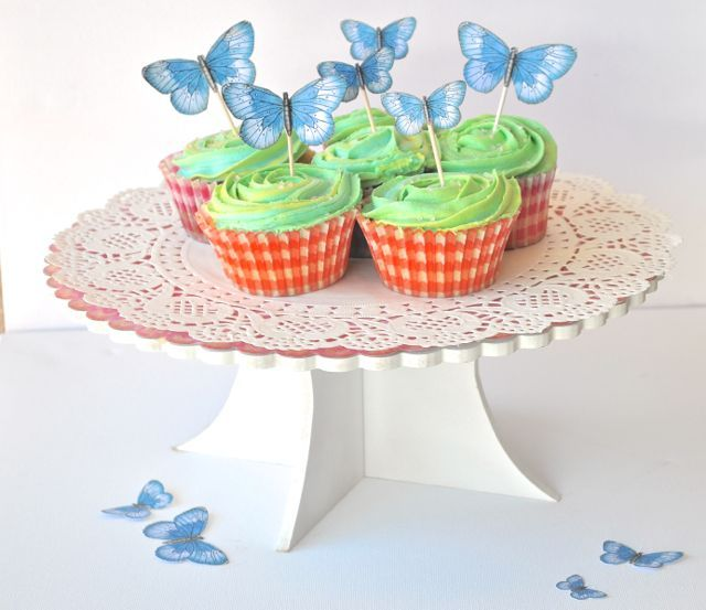 Cupcake toppers By Kelly-ann Oosterbeek... Butterflies available at Etsy... https://www.etsy.com/au/listing/192636657/sky-blue-printable-butterflies-in-3?ref=shop_home_active_5