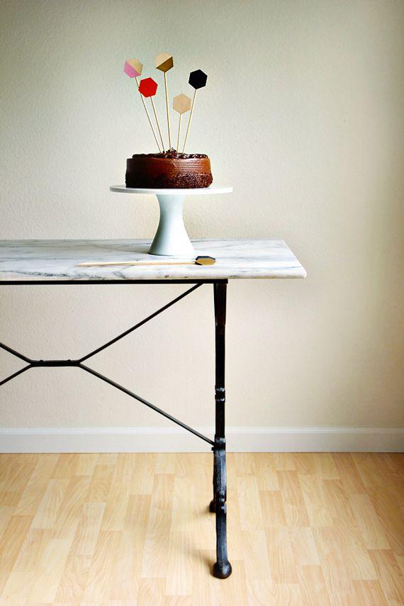Easy+Geometric+Cake+Toppers+by+jennybatt+for+Julep