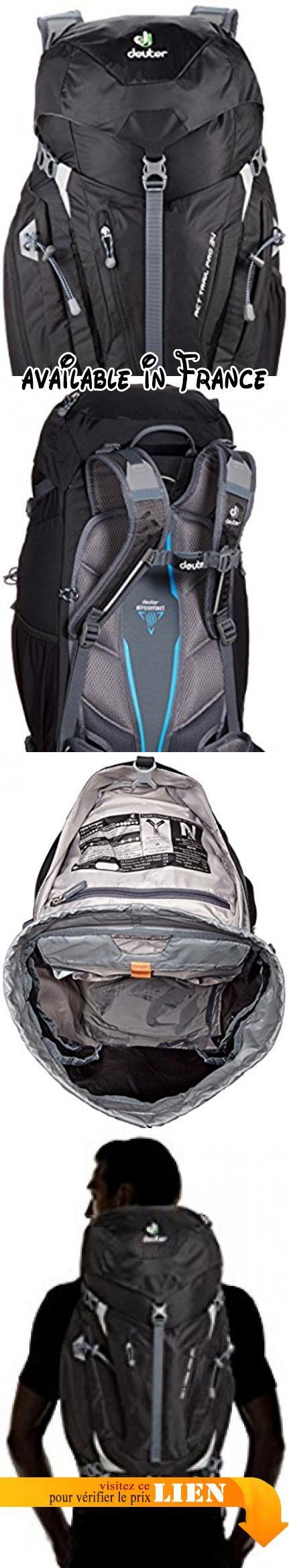 B00RDCLO4O : Deuter Act Trail Pro Sac à dos Noir 34 L. Matériel : 65 % Polyamide 35 % Polyester. Taille : 64 x 30 x 24 cm. Poids : 1.57 kg