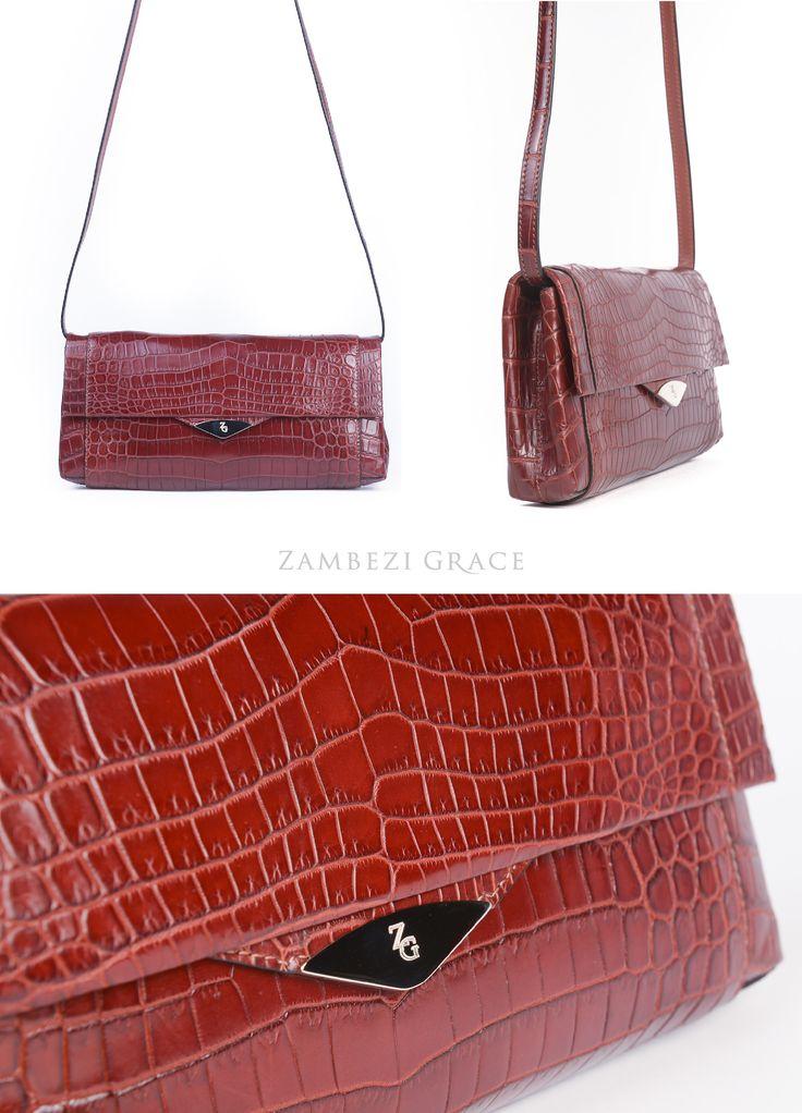 Zambezi Grace   The Olivia Premium Nile Crocodile handbag