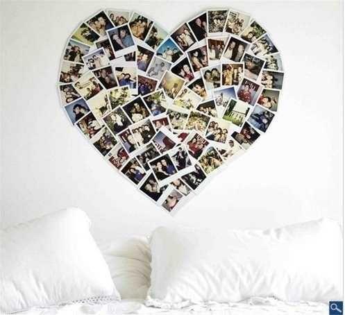 heart made of photos