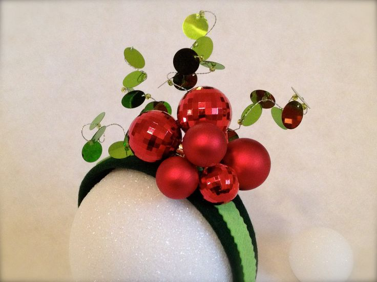 Holiday Ornaments Holly Fascinator Hat Headband Ugly Christmas Sweater Accessory Adult Size. $25.00, via Etsy.