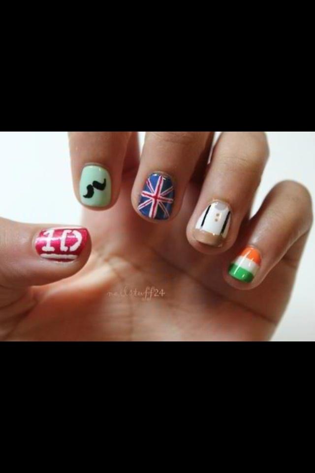 1D Nails :) so cute <3