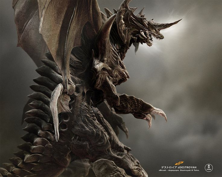 Anguirus Concept Art zDESTROYAH full by dop...