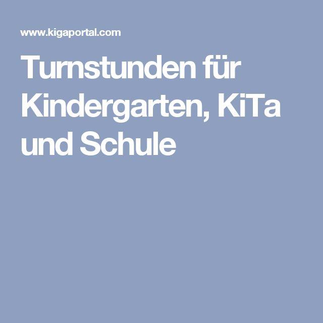 Turnstunden für Kindergarten, KiTa und Schule                                                                                                                                                                                 Mehr