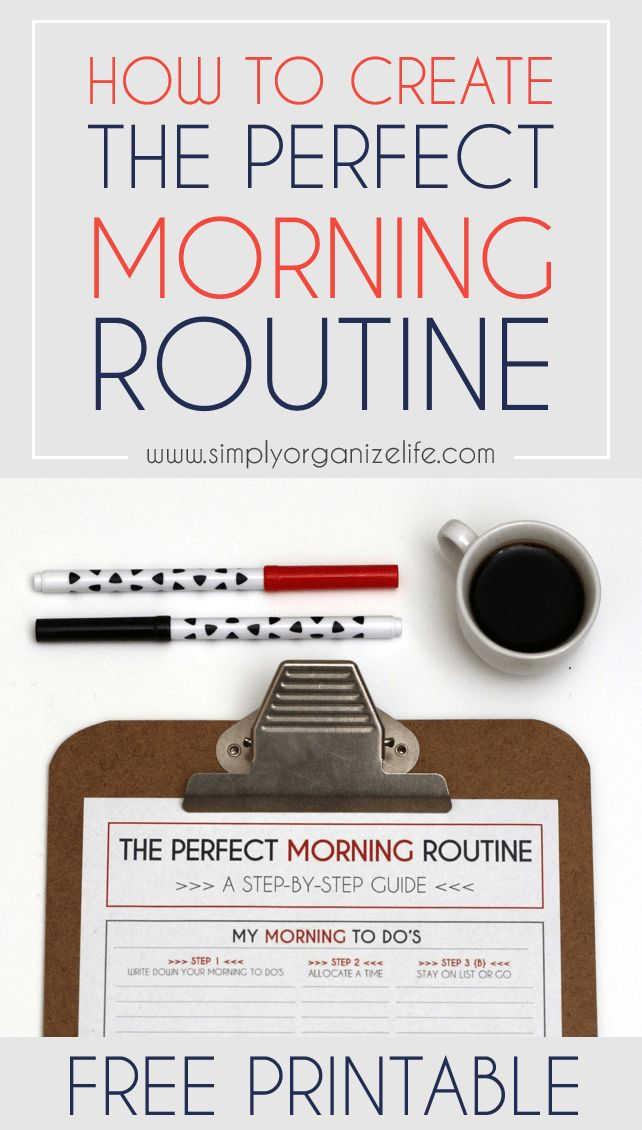 Want to create the perfect morning routine? Click here to find out how in just a few easy steps. Make the most of your mornings.