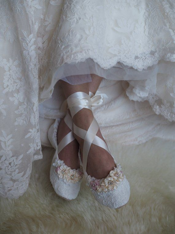 Welcome Sweet Bride I Would Be Honored To Make Your Wedding Shoes All Of The Shoes In My Shop Are In Wedding Slippers Wedding Shoes Lace Wedding Ballet Flats