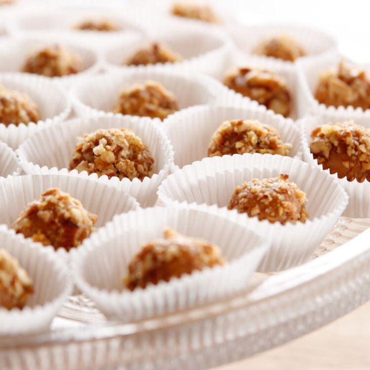 CaramelNut Truffles Recipe Food network recipes, Food