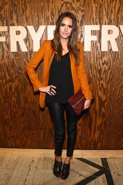 Louise Roe - The Frye Company Flagship Opening Celebration...leather pants
