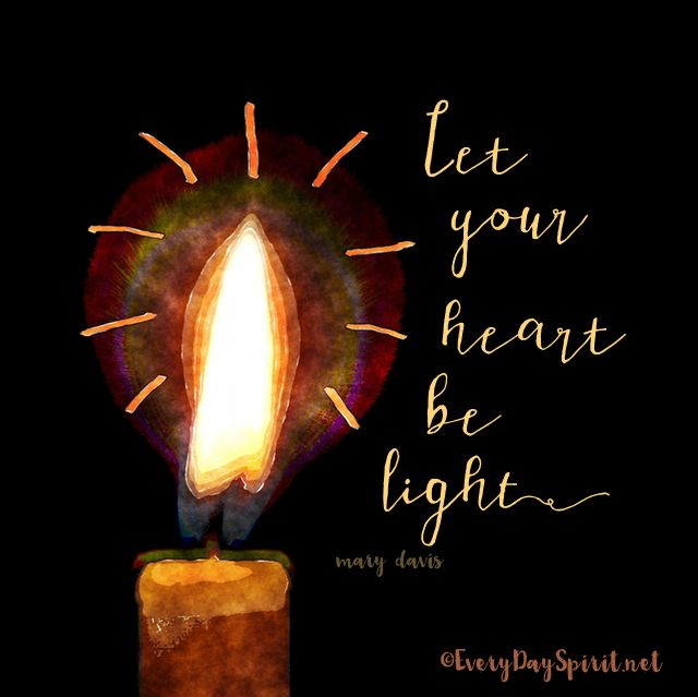 Be the light! xo Get the app of beautiful wallpapers at ~ www.everydayspirit.net xo #Christmas #light #candle
