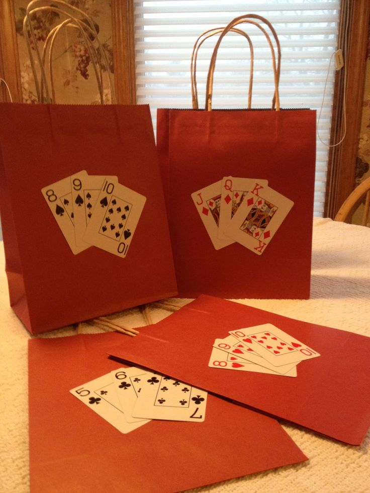Party bags for Las Vegas (theme and location)