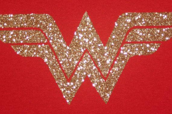 Wonder Woman Logo Shirt WonderWoman Logo Sparkle by Bumcessories