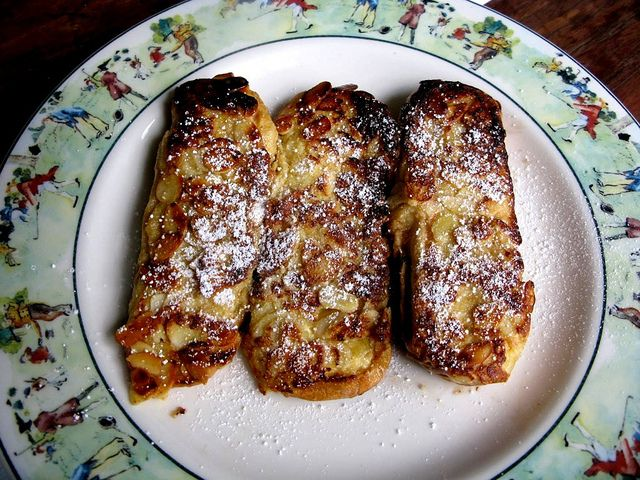 Leftover Hot Dog Bun French Toast