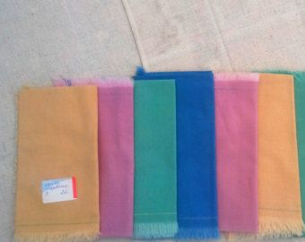 MCM soft cotton linen napkins multi color rainbow fringe party martini bar patio grill mori girl picnic dinner lunch pool summer visitor guest cafe kitchen dine dining room tablescape table