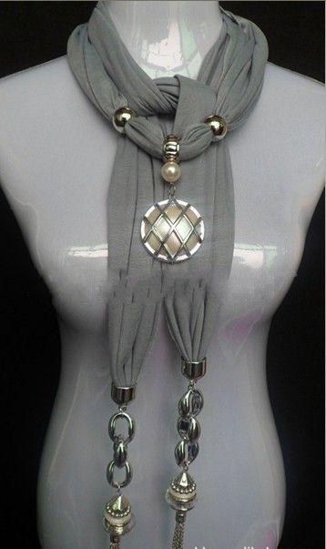 2013 Canada Beautful Shining Pearly Pendant Scarves Wholesale