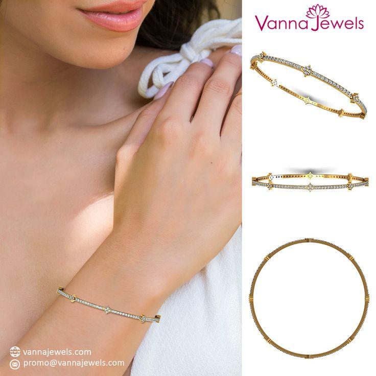 SGL Certified Genuine Single Line Diamond Bangle Bracelet Solid 18k Yellow Gold Women's Fine Jewelry