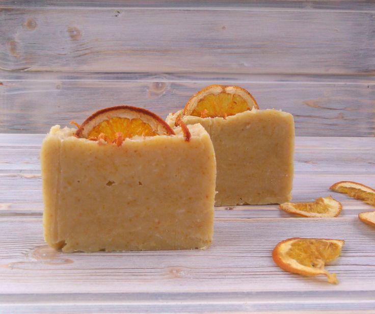 Orange soap, handmade soap with orange fresh juice, citrus vegan homemade soap, all natural bar soap, Mediterranean style,orange, red by CoffeeAndLavender on Etsy