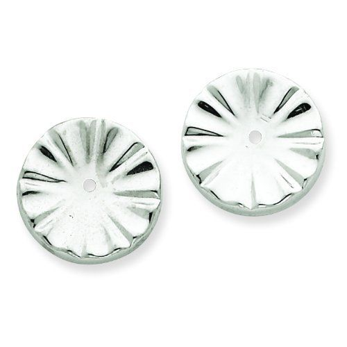 14k White Gold Fancy Earring Jackets. Gold Weight- 1.02g. Jewelry Pot. $94.99. Your item will be shipped the same or next weekday!. 30 Day Money Back Guarantee. Fabulous Promotions and Discounts!. All Genuine Diamonds, Gemstones, Materials, and Precious Metals. 100% Satisfaction Guarantee. Questions? Call 866-923-4446