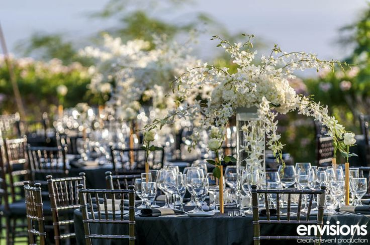Black, White & Orchids Creative event production by