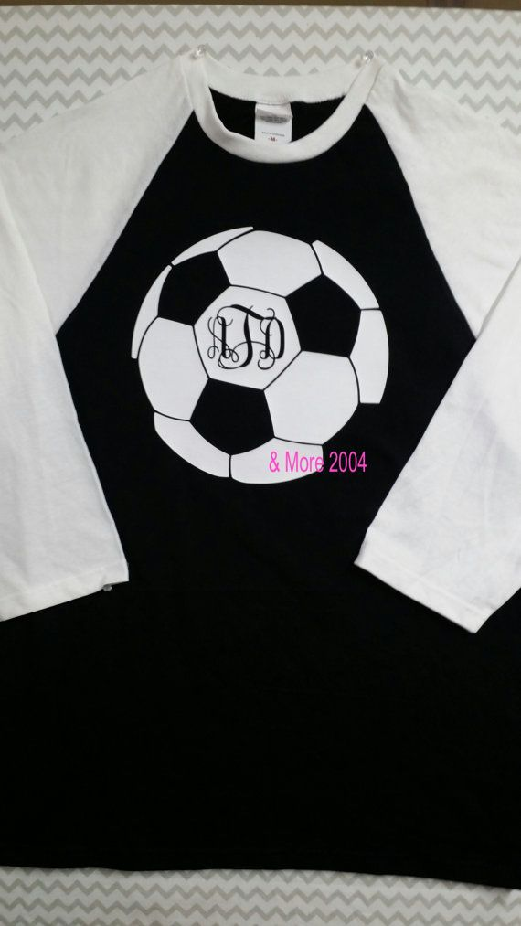 Monogrammed Soccer Jersey T shirt UNISEX by AndMore2004 on Etsy, $23.00
