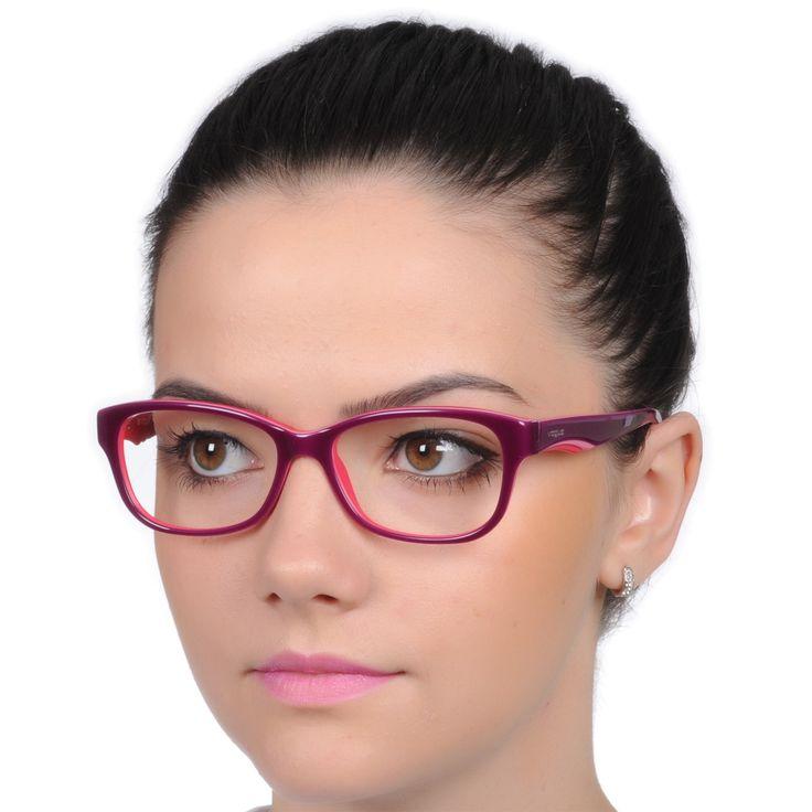 Óculos de Grau Feminino Vogue VO2814 Roxo e Rosa Brilho Acetato Médio - Vogue - Óculos de Grau | Oculosweb - Sua Ótica Online